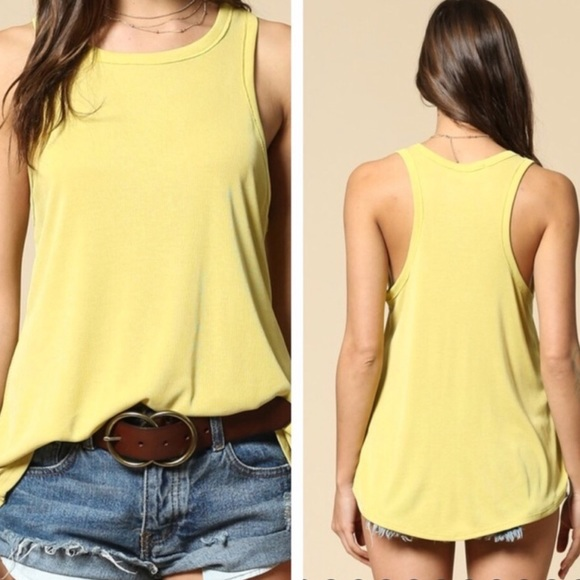 By Together Tops - BY TOGETHER Ribbed Racer Tank